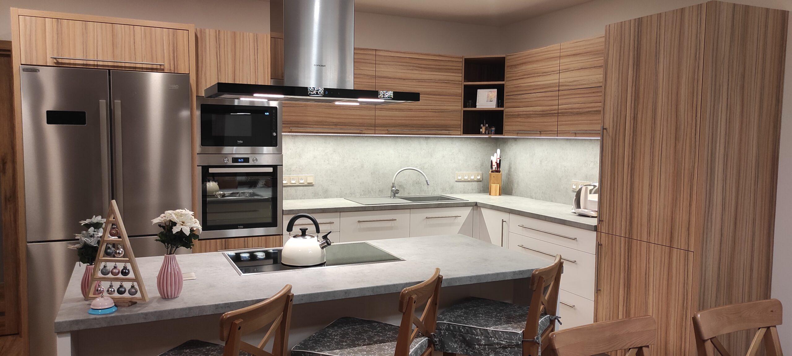 Realizace kuchyně v rodinném domě